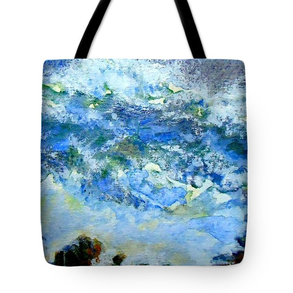 Tote Bag featuring the painting Crashing Waves by VIVA Anderson