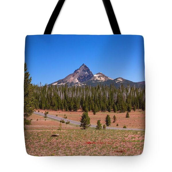 Crater Lake Np - Lightening Rod Of The Cascades Tote Bag