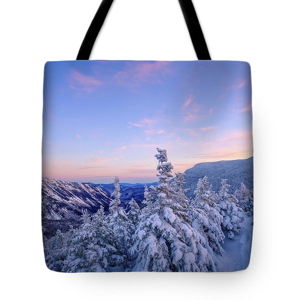 Crawford Notch Winter View. Tote Bag