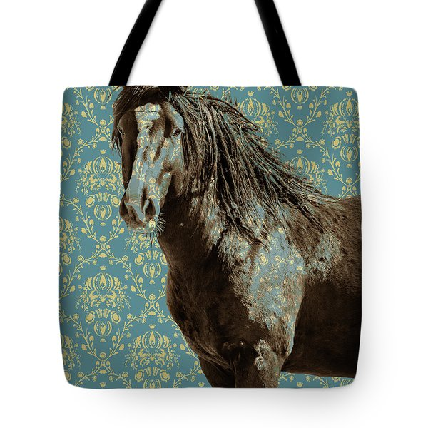 Crazy Blue Tote Bag