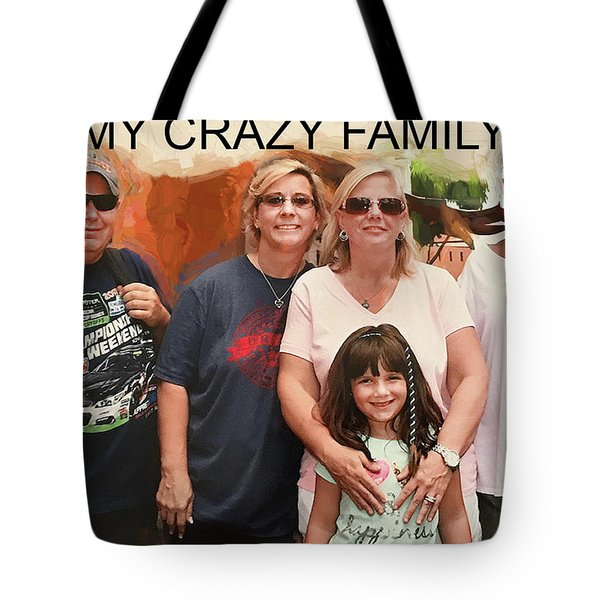 Crazy Family Tote Bag
