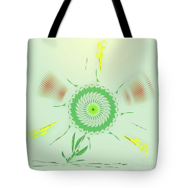 Crazy Spinning Flower Tote Bag