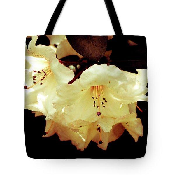 Creamy Rhododendron Tote Bag