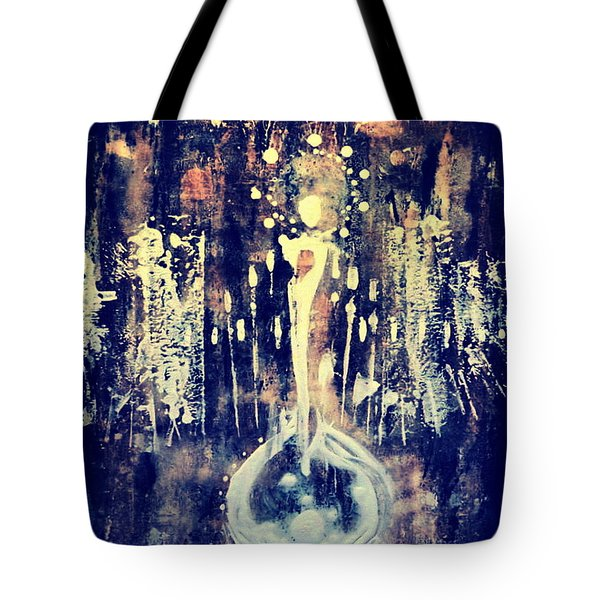 Tote Bag featuring the painting Creatrix by 'REA' Gallery