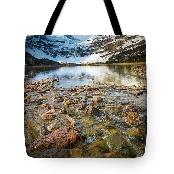 Creek And Mt Assiniboine Tote Bag