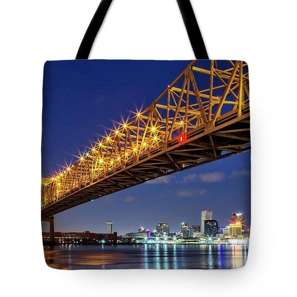 The Crescent City Bridge, New Orleans  Tote Bag