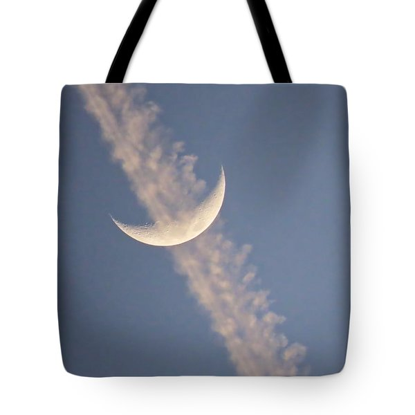 Gemini Crescent In Contrail Tote Bag