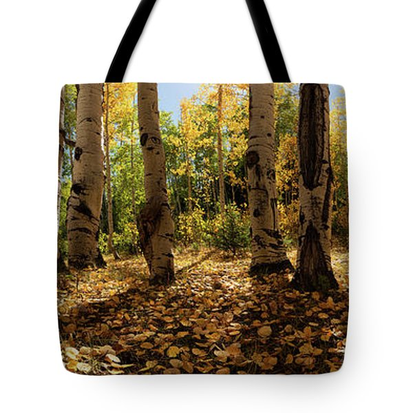 Tote Bag featuring the photograph Crested Butte Colorado Fall Colors Panorama - 3 by OLena Art Brand