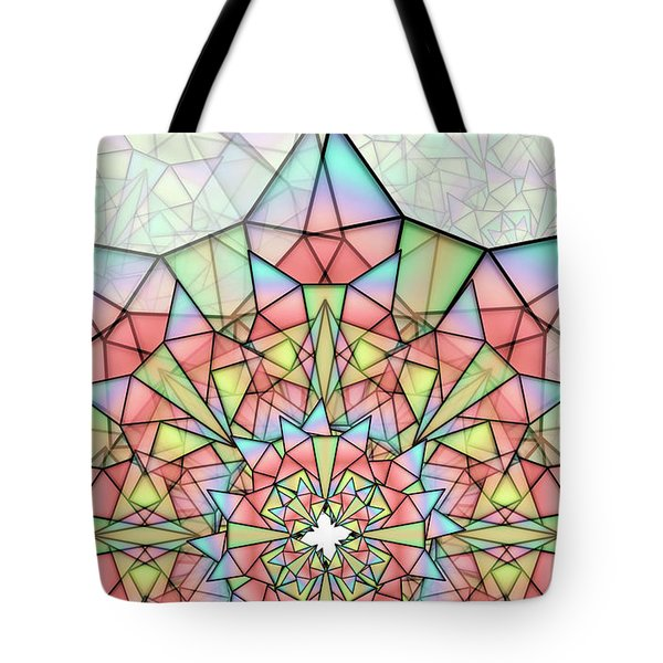Tote Bag featuring the digital art Cristal by Vitaly Mishurovsky