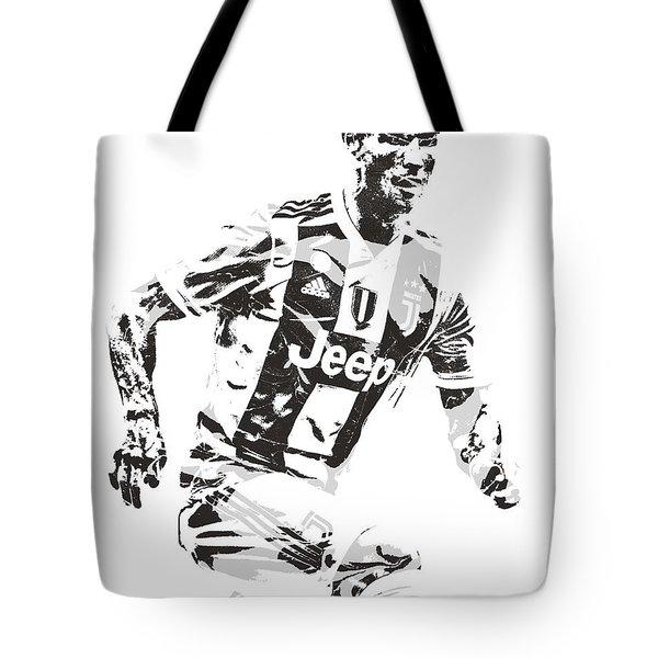 Cristiano Ronaldo Juventus Pixel Art 3 Tote Bag