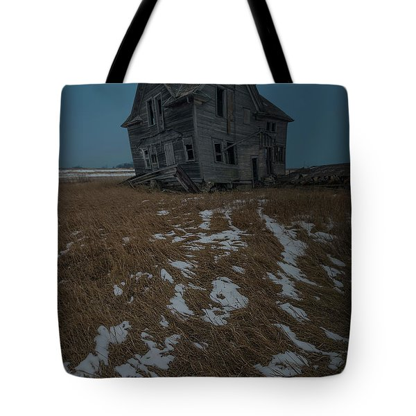Tote Bag featuring the photograph Crooked Moon by Aaron J Groen