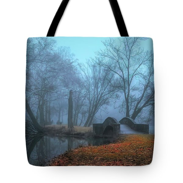 Crossing Into Winter Tote Bag