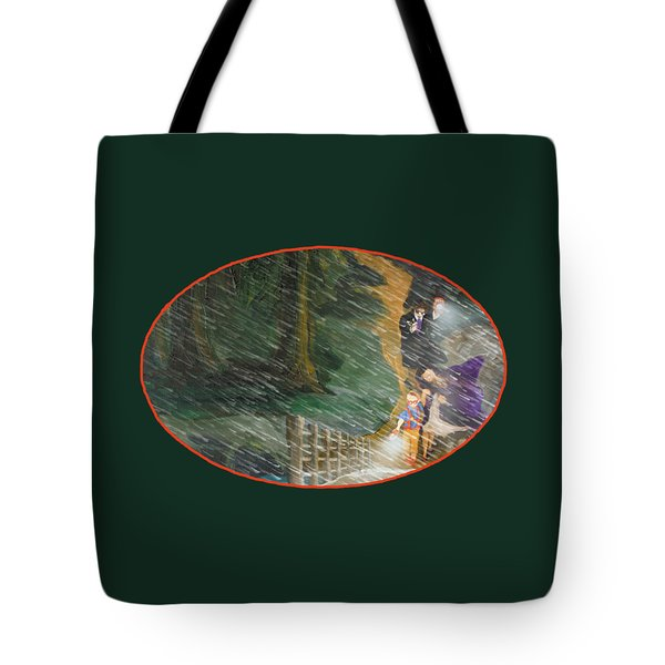 Crossing Timber Bridge Tote Bag
