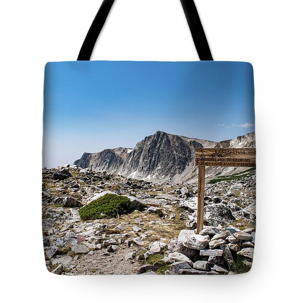 Crossroads At Medicine Bow Peak Tote Bag