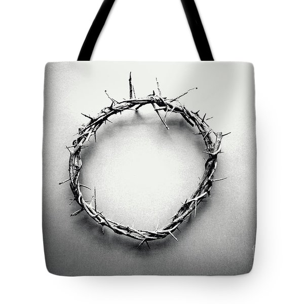 Crown Of Thorns In Black And White  Tote Bag