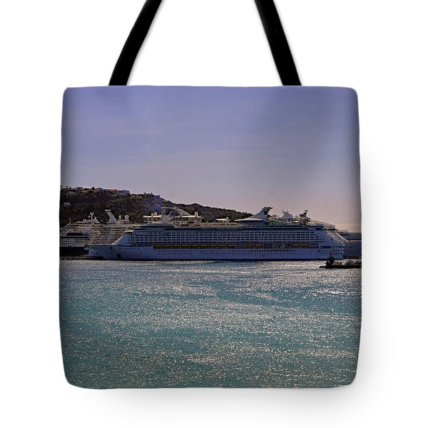 Tote Bag featuring the photograph Cruise Ships by Tony Murtagh