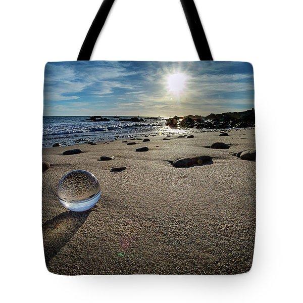 Crystal Ball Sunset Tote Bag