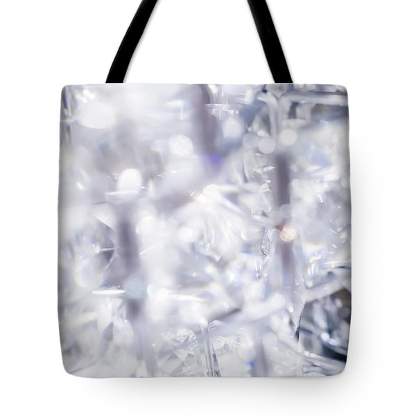 Tote Bag featuring the photograph Crystal Bling II by Anne Leven