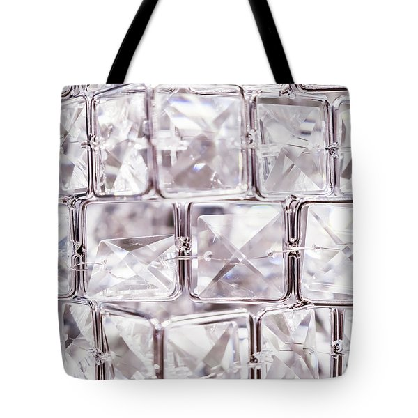 Tote Bag featuring the photograph Crystal Bling IIi by Anne Leven