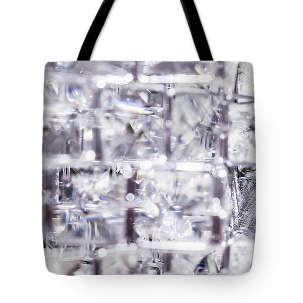 Tote Bag featuring the photograph Crystal Bling Iv by Anne Leven