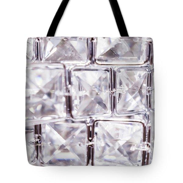 Crystal Bling V Tote Bag