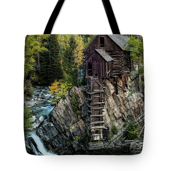 Tote Bag featuring the photograph Crystal Mill by Joe Sparks