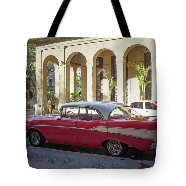Cuban Chevy Bel Air Tote Bag