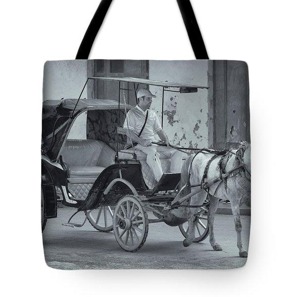 Cuban Horse Taxi Tote Bag