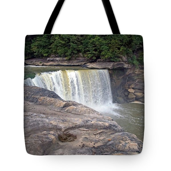 Tote Bag featuring the photograph Cumberland Falls In The Evening by Mike Murdock