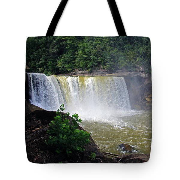 Tote Bag featuring the photograph Cumberland Falls Kentucky by Angela Murdock