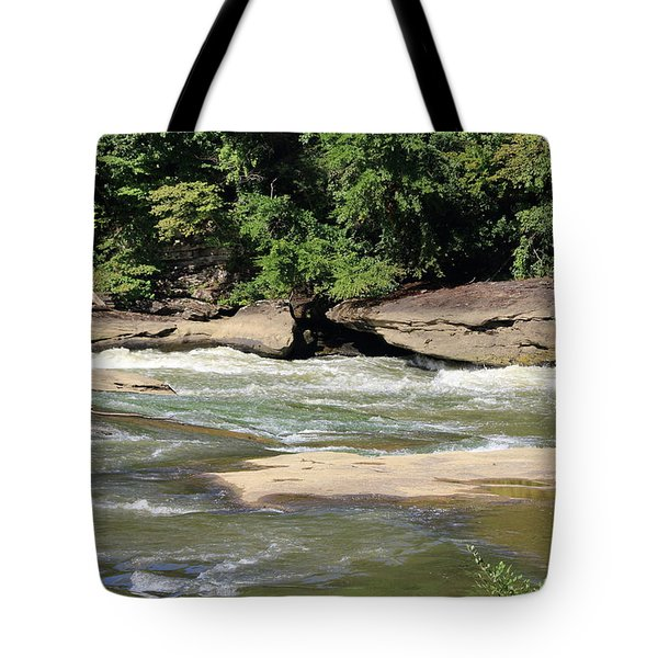 Tote Bag featuring the photograph Cumberland River by Angela Murdock