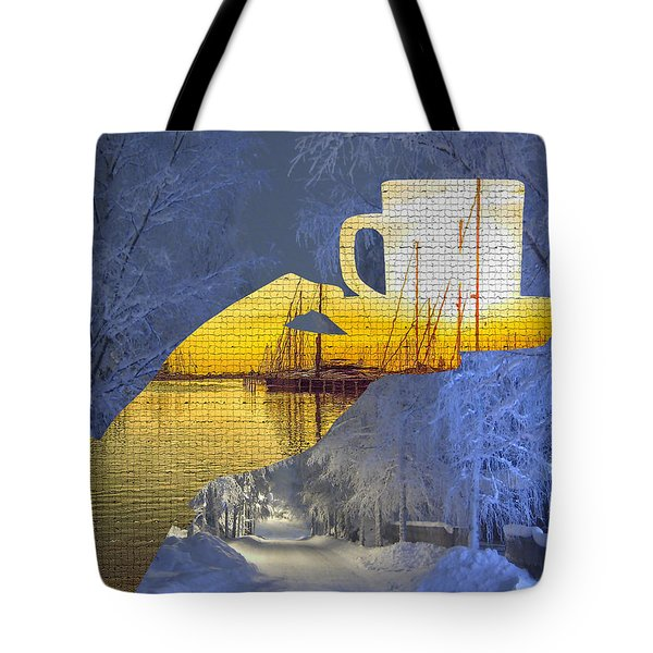 Cup Of Tea In The Winter Evening Tote Bag