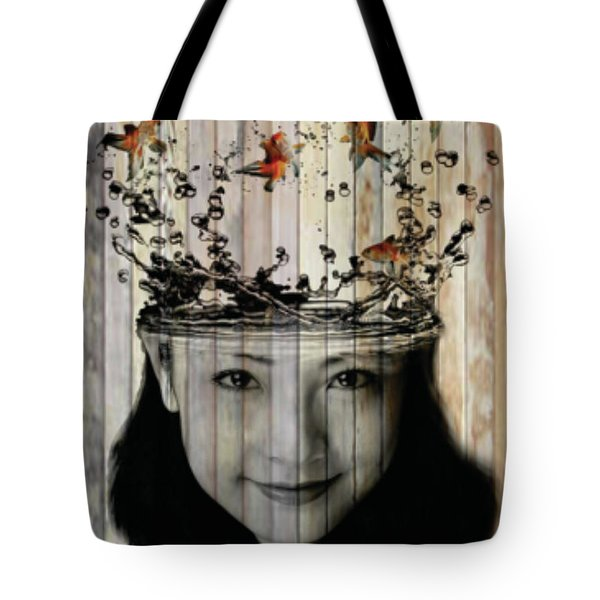 Curious Flying Fish  Tote Bag