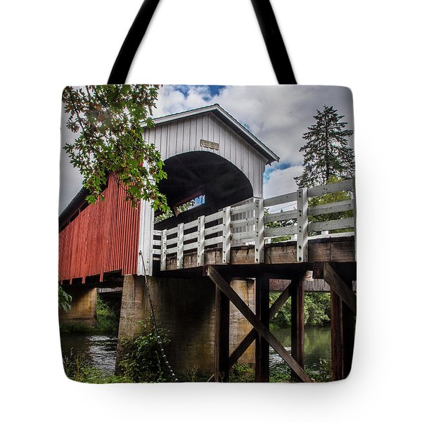 Tote Bag featuring the photograph Currin Covered Bridge by Matthew Irvin