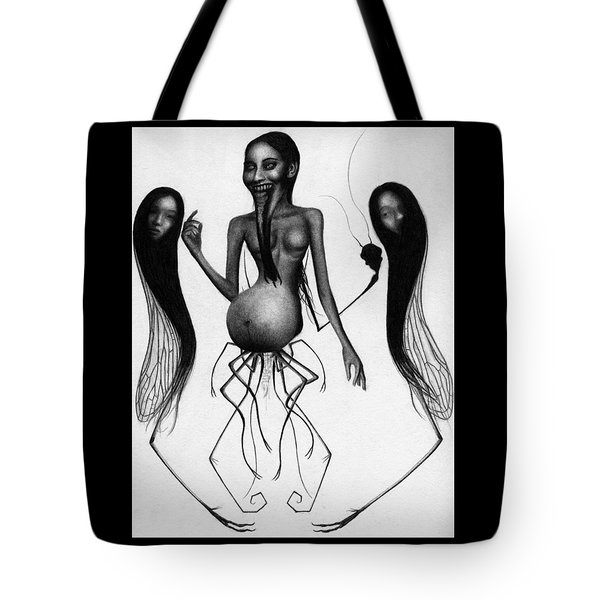 Tote Bag featuring the drawing Cursebirther - Artwork by Ryan Nieves