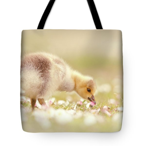 Cute Overload Series - Grazing Gosling Tote Bag