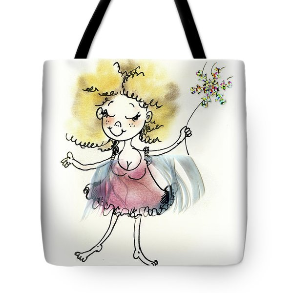 Cute Pink Fairy Tote Bag