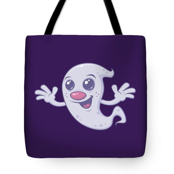 Cute Retro Ghost Tote Bag