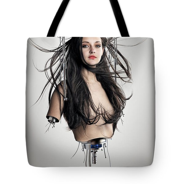 Cyborg Woman Tote Bag