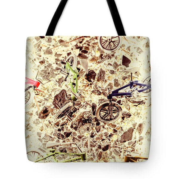 Cycling Abstracts Tote Bag