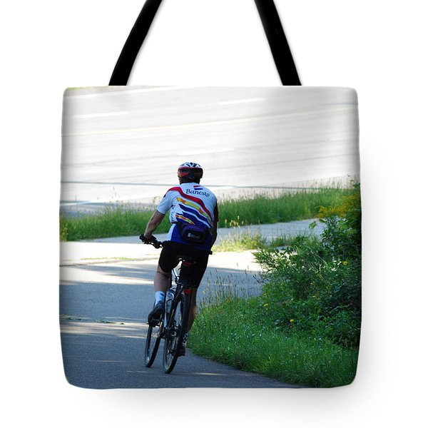 Cyclist Action Tote Bag