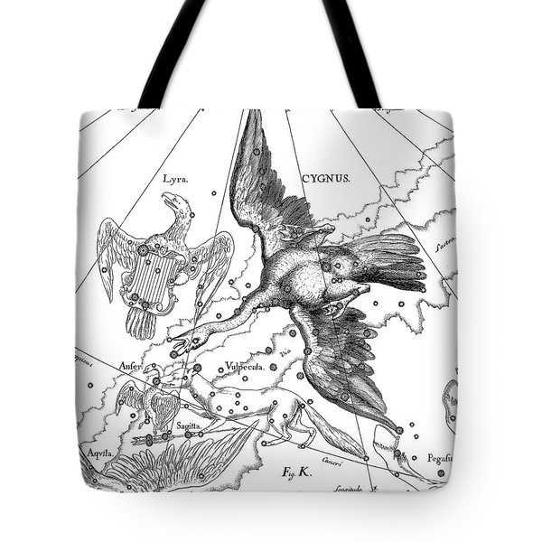 Cygnus, Boreal Constellation Of Swan Or Northern Cross Tote Bag