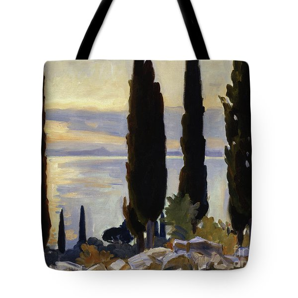 Cypress Trees At San Vigilio, 1913  Tote Bag