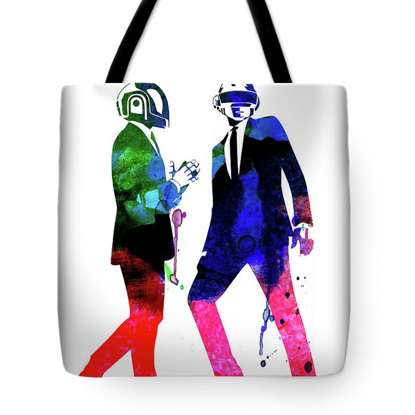 Daft Punk Watercolor Tote Bag