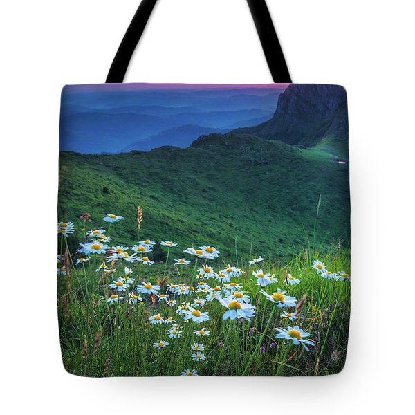 Daisies In The Mountain Tote Bag