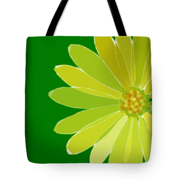 Tote Bag featuring the digital art Daisy, Daisy by Gina Harrison