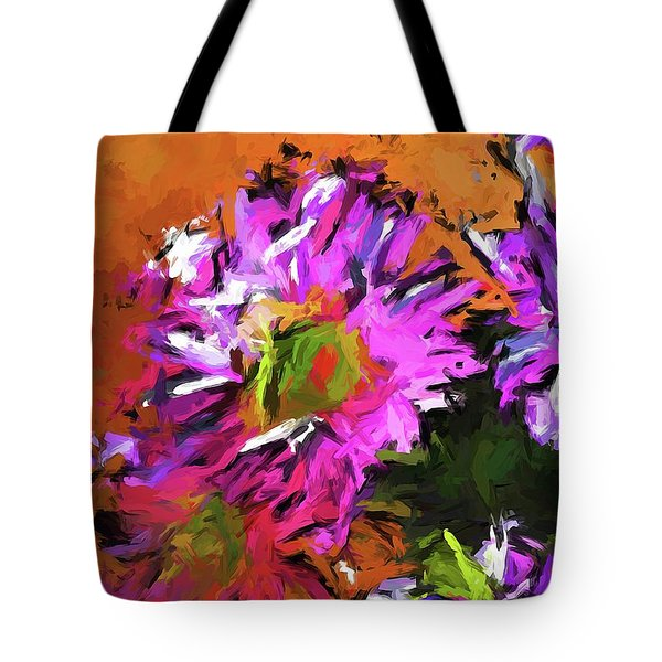 Daisy Rhapsody In Lavender And Pink Tote Bag