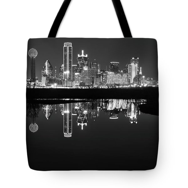 Tote Bag featuring the photograph Dallas Texas Cityscape Reflection by Robert Bellomy