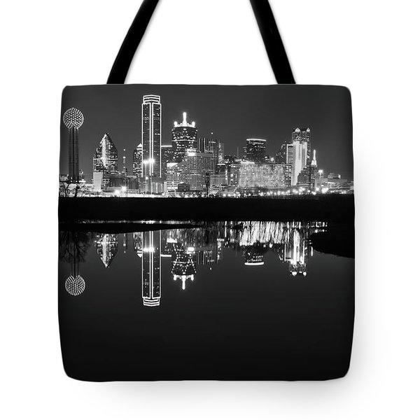 Dallas Texas Cityscape Reflection Tote Bag
