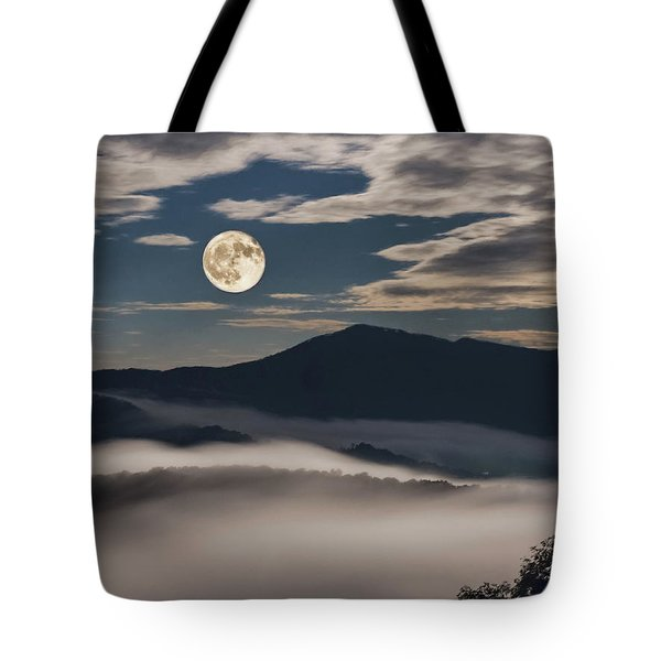 Dance Of Clouds And Moon Tote Bag